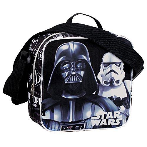 Star Wars Darth Vader en Stormtrooper schaduw koeltas lunchtas (zwart).