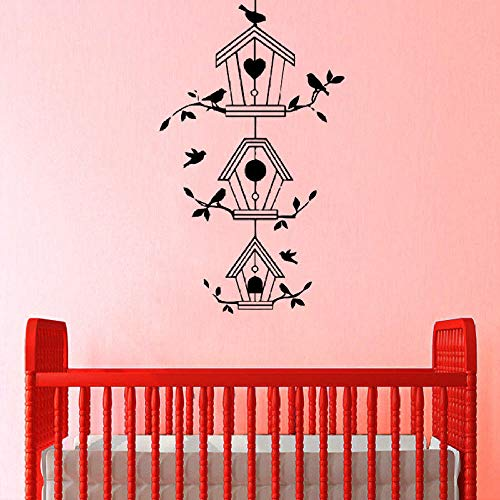 Wandaufkleber Vogelhaus Filialen Vinyl Aufkleber Baby Kinderzimmer Schlafzimmer Bewegliche Liebe Wandbilder Wohnzimmer Wandbehang Tattoo Aufkleber Wanddekoration Wandbilder