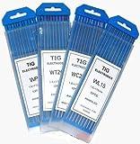 WeldingCity 10-pk Premium TIG Welding Tungsten Electrode Rod Pure (Green, EWP) 1/8' x 7' | 10-pcs