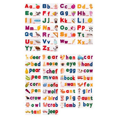 planuuik 1 Juego de Palabras de Madera para ortografía, 26 Letras del Alfabeto inglés, práctica cognitiva