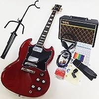 エレキギター初心者 BSG-STD WR SGタイプ入門セット VOXアンプ付13点セット