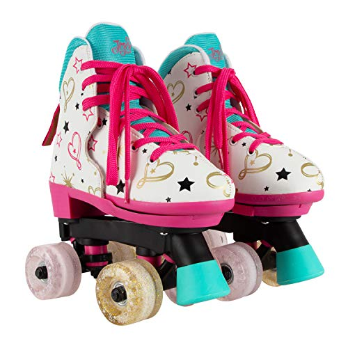 Circle Society Classic Adjustable Indoor & Outdoor Childrens Roller Skates - JoJo Siwa Party in Pink - Sizes 3-7, Multicolor