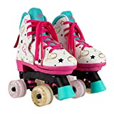 Circle Society Classic Adjustable Indoor & Outdoor Childrens Roller Skates - JoJo Siwa Party in Pink...
