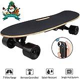 Hiriyt Elektrisches Skateboard Longboard Skateboard mit Funkfernbedienung auf Vier Rädern, Höchstgeschwindigkeit 20km/h