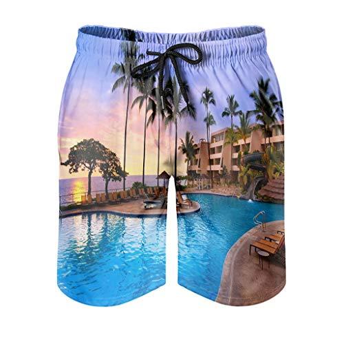 None Brand - Traje de baño para hombre, diseño hawaiano, varios diseños, para actividades de natación