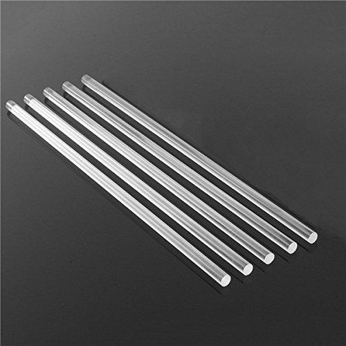 Sndy 5袋透明アクリル丸棒 0.8 cm 直径30cm 長さ固体アクリル棒