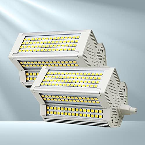2X Lampadina LED dimmerabile R7s 118MM 50W Bianco Caldo 3000K Double Ended J Type Super Bright 500W Lampada alogena Proiettore sostitutivo
