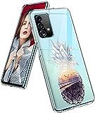 Funda para Samsung Galaxy A72, funda de silicona, transparente, diseño de flores, funda protectora para niñas, suave TPU, funda flexible resistente a los arañazos, funda fina para Samsung A72 5G/4G