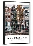 artboxONE Poster mit schwarzem Rahmen 30x20 cm Amsterdam