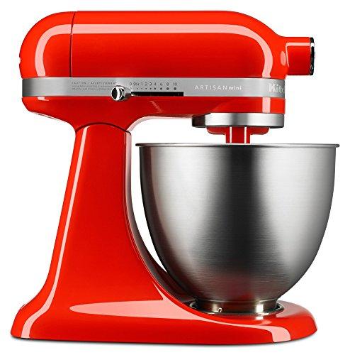 KitchenAid KSM3311XHT Artisan Mini Series Tilt-Head Stand Mixer, 3.5 quart, Hot Sauce...