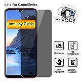 QQFTCM [3 Piezas] Vidrio Protector antiespía, para Xiaomi Mi 9T Pro Protector de Pantalla para Mi 6 Play Pocophone F1 Vidrio Templado para Mi 8 SE Lite-Pocophone F1