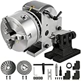 Frantools Teilapparat Rundtisch 160MM Teilkopf mit 3 Backenfutter schwenkbar horizontal vertikal für Fräsmaschine