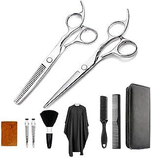 Barber Scissors 15 Pcs Hair Cutting Scissors Set Professional Hairdressing Scissors Kit Stainless Steel Thinning Shears Ha...