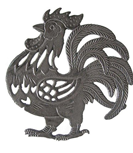 Cast Iron Rooster Shaped Trivet