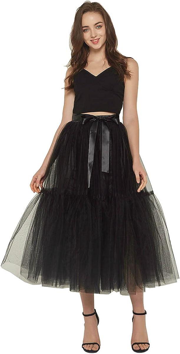 Women Christmas Tutu Skirt Tulle Knee Length Underskirt Mesh Elastic Waist Sexy Tutu Skirt