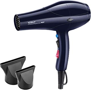 Rosily Professional 2200W Ionic Ceramic Hair Dryer | Fast Drying Salon Quality Blow Dryer with Nozzle Attachments for Smooth Shine and Silky Hair | Extra Long Cord and Faster Drying Time