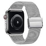 AK kompatibel mit Apple Watch Armband 38mm 40mm 42mm 44mm, Metall Edelstahl Ersatzarmband kompatibel...