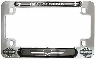 Harley-Davidson Skull Nickel Motorcycle Plate Frame, 7.5 x 4.75 inches MF119980