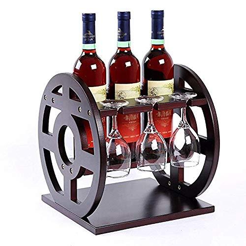 HY-WINE Rotwein Tasse Rack Ornament Europäischen Stil Kreative Wein Tasse Rack Moderne Einfache Hohe Gerüst Regal Massivholz Haus Wein Regal Auf Dem Kopf 29.5x31x31.5cm/Norme classique