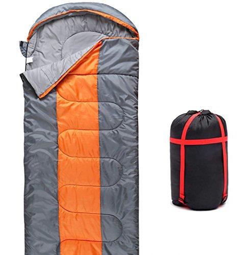 QMQ, sacco a pelo, 3-4stagioni, leggero con sacca per il trasporto, ideale per adulti e bambini, per campeggio o viaggio (190+ 30) X 75cm