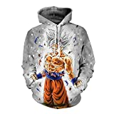 Silver Mastered Ultra Instincts Goku Hoodie 3 Asian L