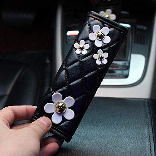 XLHZLY Auto Aschenbecher, Nette Gänseblümchen-Blumen-Auto-Innendekoration-Lederlenkrad-Abdeckungs-Gangschaltung-Handbremsabdeckung-Sicherheitsgurt-Autozubehör, Fall der Handbremse 1pcs