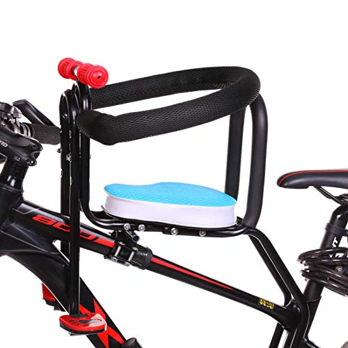 Find Discount WOLFBUSH Portable Child Bike Seat, Bicycle Kids Front Baby Seat Bike Carrier with Hand...