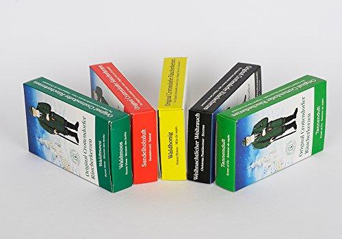 Crottendorfer Räucherkerzen 5er Pack 5 x 24 Stück, Weihrauch, Tannenduft, Sandelholz, Waldhonig, Waldmoos