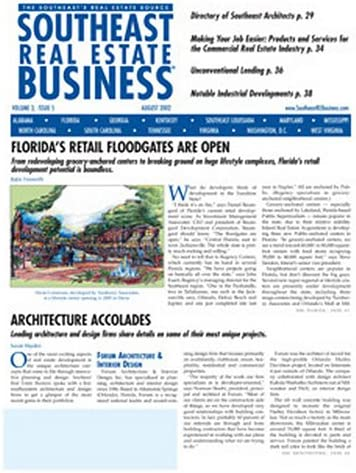 Southeast Real Estate New Excellence product Magazine Business    Print