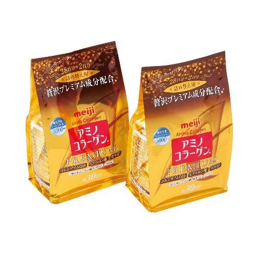 MEIJI Amino Collagen PREMIUM Refill 214g ー2pack