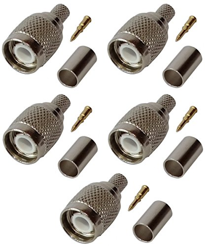 AERZETIX: 5x Steckverbinder TNC Stecker für Kabel H155