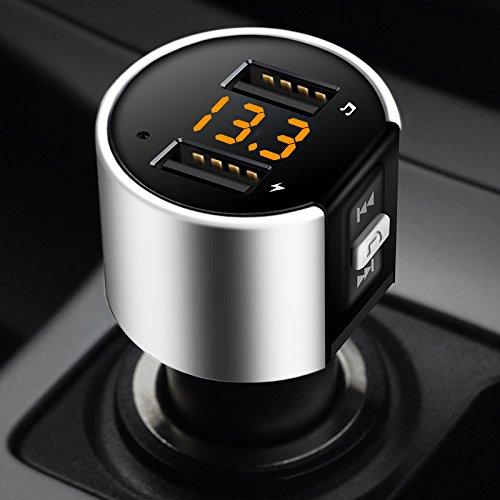 elegantstunning Kit de Voiture Transmetteur FM Bluetooth C26S Lecteur MP3 Adaptateur Radio sans Fil Chargeur USB