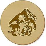 Azeeda 6 x 'Hombre-Lobo' Redondo Posavasos (CR00118037)