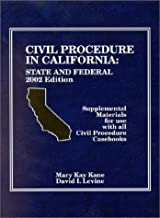 Civil Procedure in California: State and Federal, 2002 (American Casebook Series and Other Coursebooks)