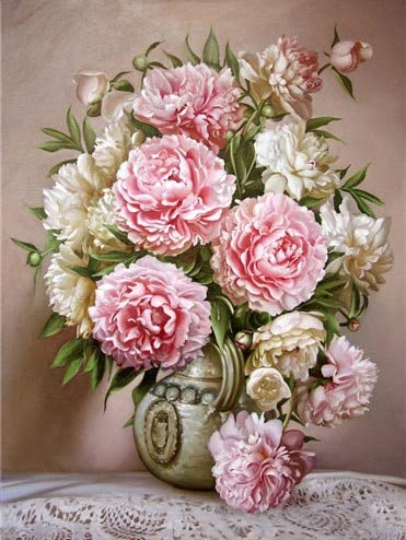 5D DIY diamante pintura flor Kit de punto de cruz mosaico diamante bordado Rosa completo diamante pintura A14 30x40cm