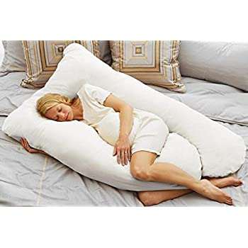 Today's Mom Cozy Comfort Pregnancy Pillow, White