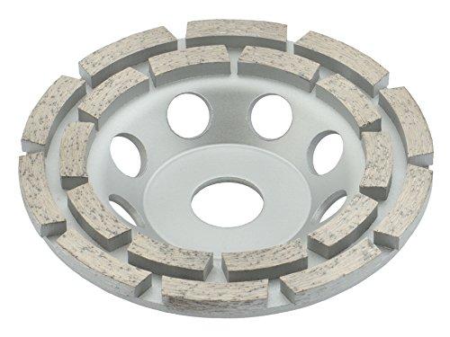 TRONGAARD Diamant Schleifteller/Diamant Schleiftopf 125mm / 22,23mm / 22mm doppelreihig
