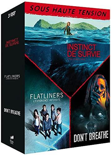 Coffret sous haute tension 3 films : instinct de survie ; l'éxpérience interdite ; don't breath [FR Import]
