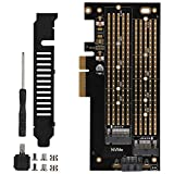 Soapow PCIE to M.2 SATA+NVME Dual Disk Expansion Card for 2230 2242 2260 2280 22110 Size M.2 SSD