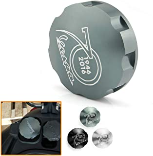 QIDIAN For VESPA GTS GTV LX Primavera Sprint 125 150 250 300 300ie Scooter Gas Fuel Tank Filler Cap Cover for VESPA GTS300 GTS 300 (Grey)