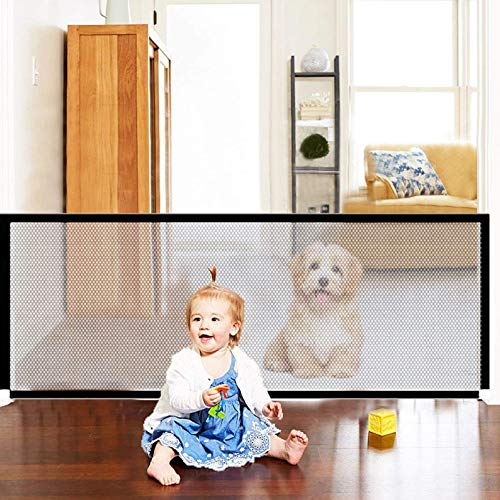 Magic Pet recinzioni,Barriere per cani,Dog Gate,Magic Gate for Dogs,Cancello magico per cani,Pet barriera cancelletto di sicurezza,Portatile Pieghevole Dog barriera di Sicurezza (72-180)