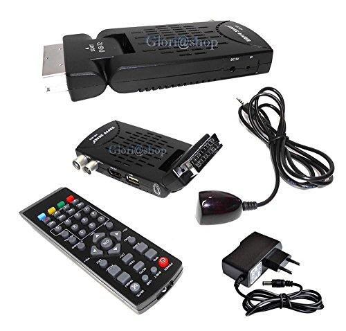 Decodificador satélite Digital terrestre Mini DVB-T2 USB HDMI Toma SCART HD-333