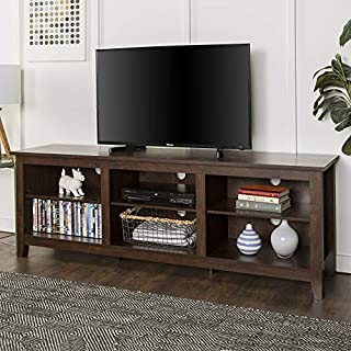 Walker Edison Furniture Company Minimal Farmhouse Wood Universal Stand for TV's up to 80