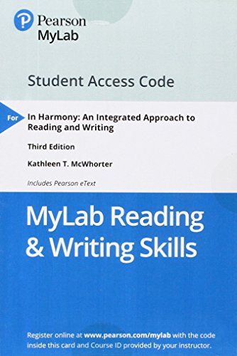 MyLab Reading & Writing Skills with Pearson eText -- Standalone Access Card -- In Harmony: Reading and Writing (My Skills Lab)