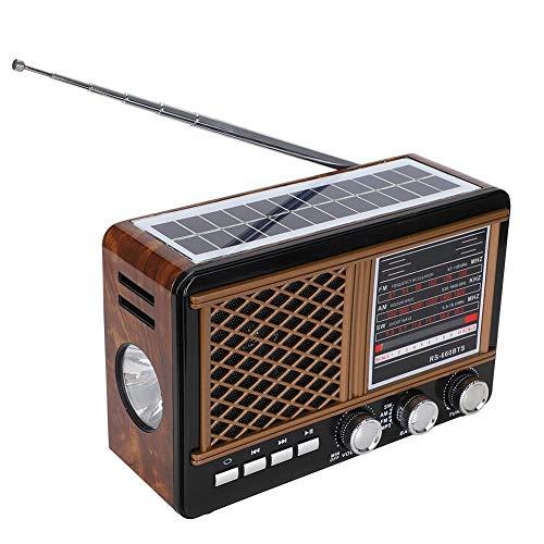 Radio multibanda, Radio Bluetooth portátil con múltiples bandas FM/AM/SW Bluetooth (enchufe de la UE 220V-240V), recepción de banda múltiple, altavoz de magnetismo 45 de 3 pulgadas, auriculares estére