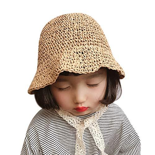 Sombrero paja niña gorro verano sombrero plegable