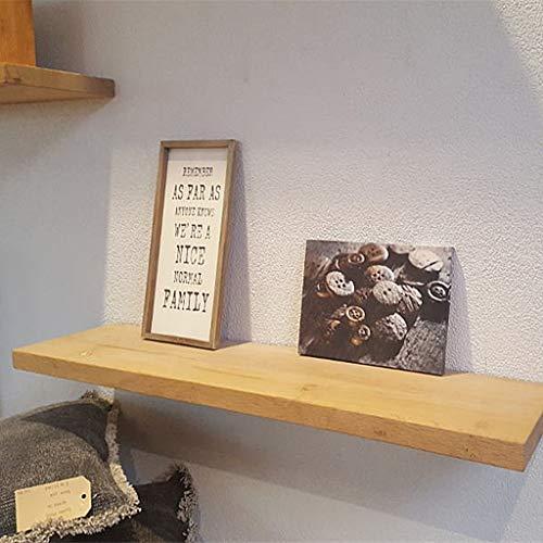 Metalen hoekplanken, zwevende wandwand van hout, 3 cm dik, incl.