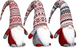 Simple Art Christmas Gnomes Decorations / Scandinavian Christmas Gnome / Valentines Gnome 3 Pack - 24 Inches Large Gnomes