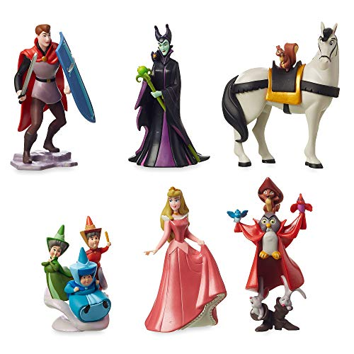 Disney PLAYSET 6 Personaggi LA Bella ADDORMENTATA Maleficent Principe Filippo