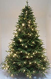 HOLIDAY STUFF 9 Foot Luxury Perfect Shape Spruce Artificial Christmas Tree Pre-lit (9ft)